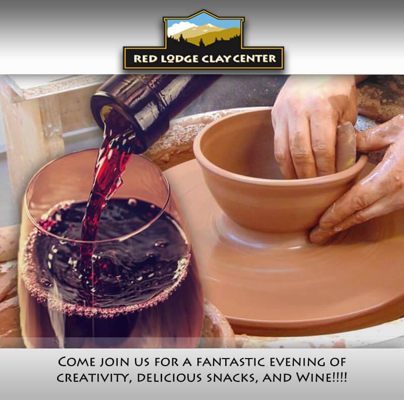 Wheel Wine Adult Ceramics Class One Night Red Lodge Clay